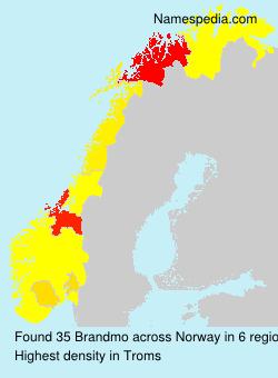 Surname Brandmo in Norway