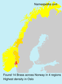 Surname Brass in Norway