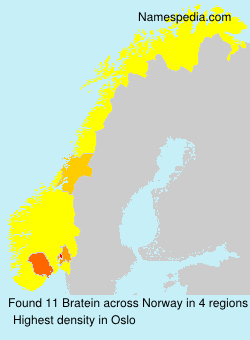Surname Bratein in Norway