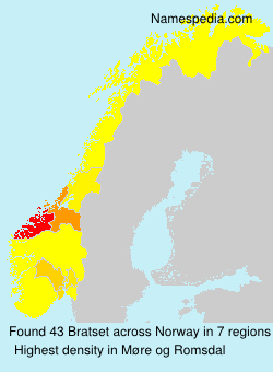Surname Bratset in Norway