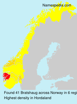 Surname Bratshaug in Norway