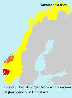 Surname Bredvik in Norway