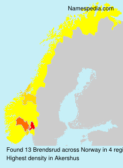 Surname Brendsrud in Norway