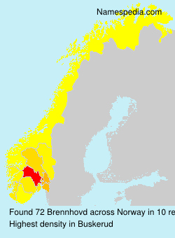 Surname Brennhovd in Norway