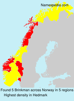 Surname Brinkman in Norway