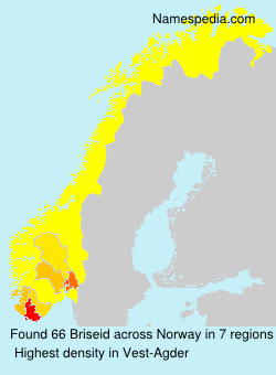 Surname Briseid in Norway