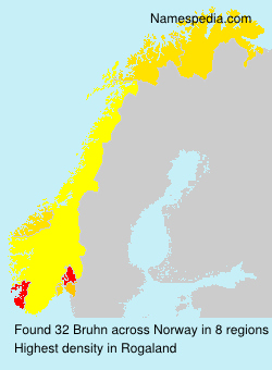Surname Bruhn in Norway