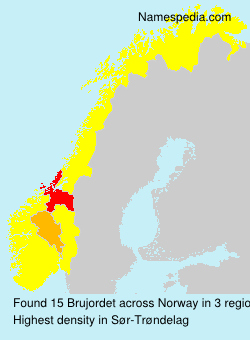 Surname Brujordet in Norway
