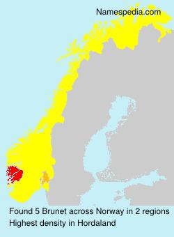 Surname Brunet in Norway