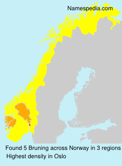 Surname Bruning in Norway