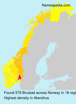 Surname Brustad in Norway