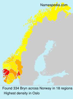 Surname Bryn in Norway