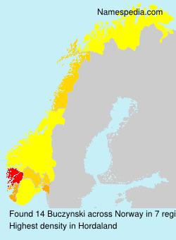 Familiennamen Buczynski - Norway
