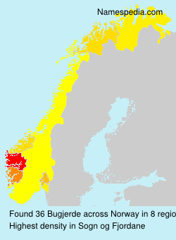 Surname Bugjerde in Norway