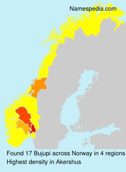 Surname Bujupi in Norway