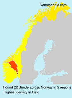Surname Bunde in Norway