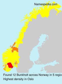 Surname Bunkholt in Norway