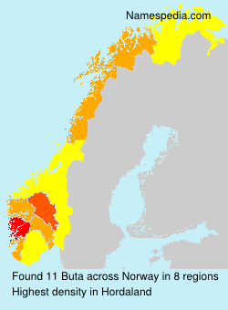 Surname Buta in Norway