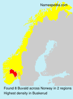 Surname Buvald in Norway