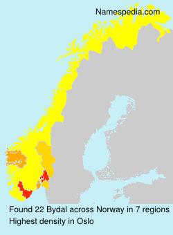 Surname Bydal in Norway