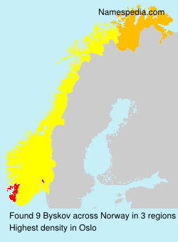 Surname Byskov in Norway