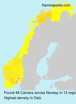 Surname Camara in Norway