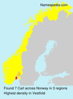 Surname Carl in Norway