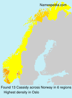 Surname Cassidy in Norway