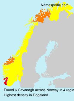Surname Cavanagh in Norway