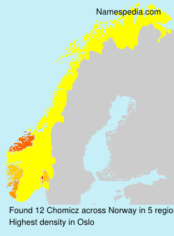 Surname Chomicz in Norway