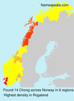 Surname Chong in Norway