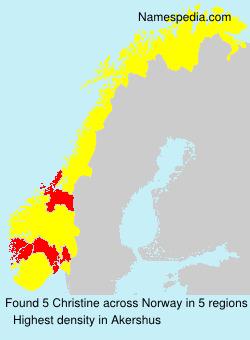 Familiennamen Christine - Norway