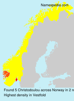 Surname Christodoulou in Norway