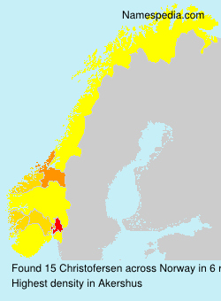 Familiennamen Christofersen - Norway