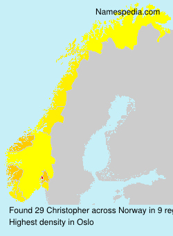 Surname Christopher in Norway