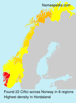 Surname Ciftci in Norway