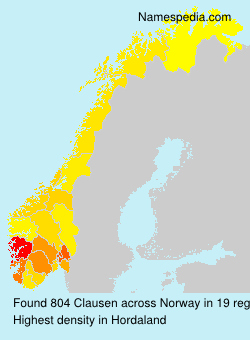 Familiennamen Clausen - Norway