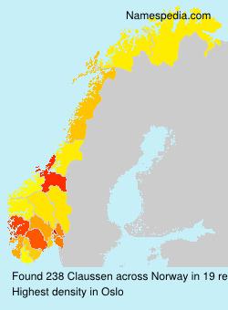 Familiennamen Claussen - Norway