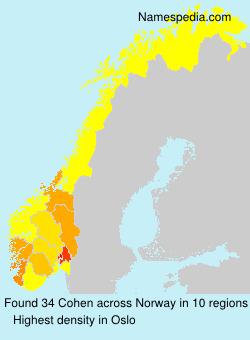 Familiennamen Cohen - Norway