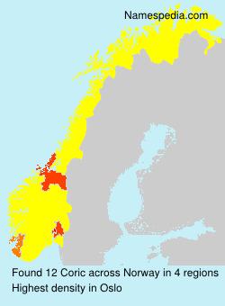 Familiennamen Coric - Norway