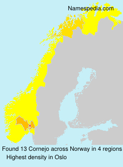 Surname Cornejo in Norway