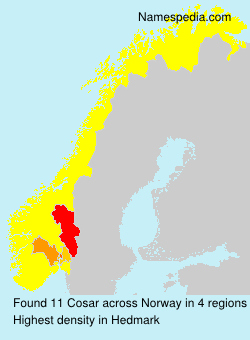 Surname Cosar in Norway