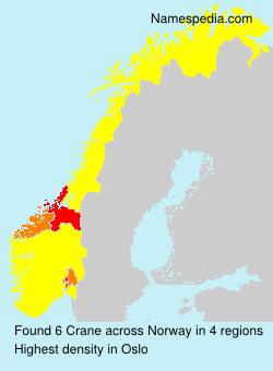 Surname Crane in Norway