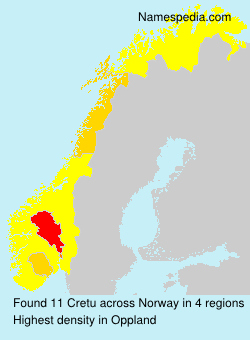 Surname Cretu in Norway
