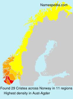 Surname Cristea in Norway