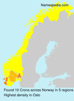 Surname Crona in Norway