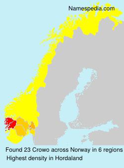 Familiennamen Crowo - Norway