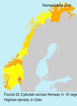 Familiennamen Cybulski - Norway