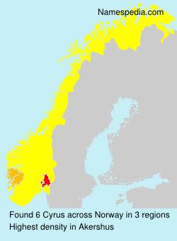 Familiennamen Cyrus - Norway