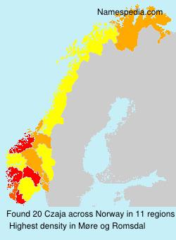 Surname Czaja in Norway